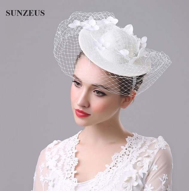 Online Shop Best Selling Beautiful White Floral Wedding Veil Hats For Bride  Mother Chapeau Femme Mariage Chapeu Noiva Linen Pearl Hats SQ028  14b6b74b216