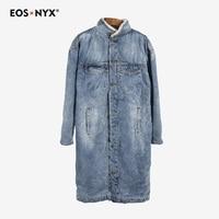 Eosnyx длинный плащ пальто для мужчин sobretudo masculino gabardina abrigos hombre ветровка кашемир джинсовое пальто invierno 2018