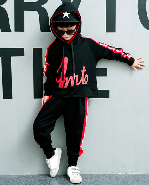 For 6 8 10 12 14 Years Children's sets Autumn boys fashion long sleeve hooded Hoodies + Haren Sweatpants vetement garcon outfits 5