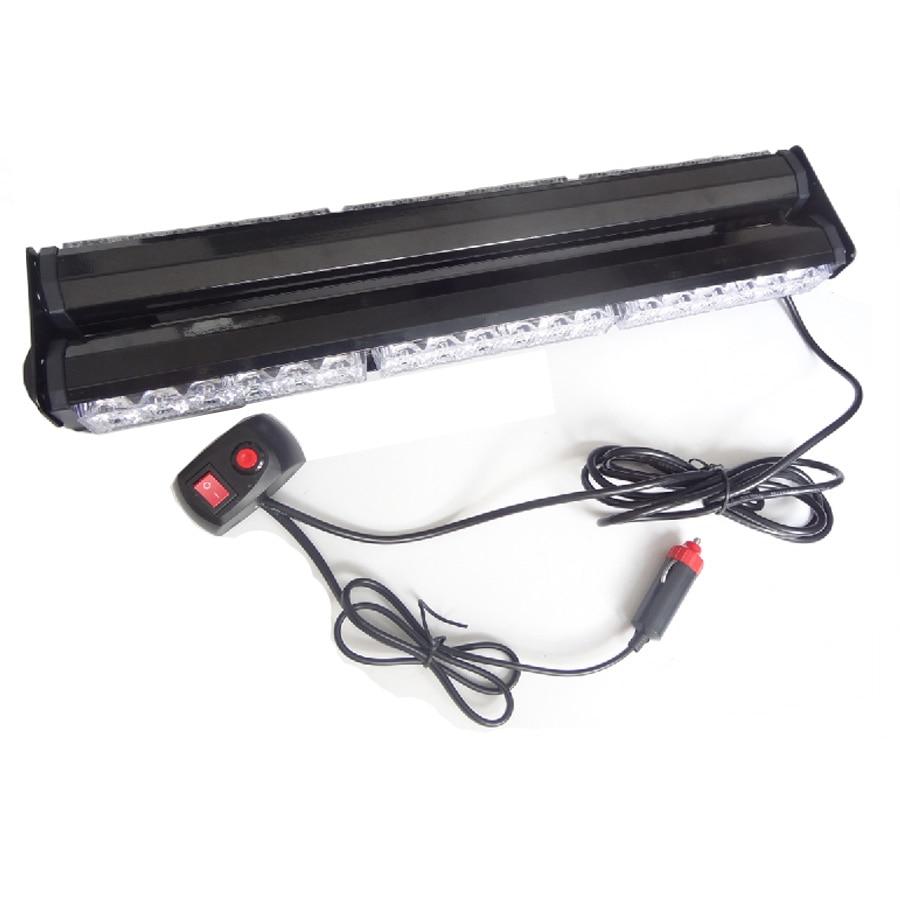 18 High Power 36 LED Double Side Emergency Car Truck Flashing Strobe Work Light 108W Scanner Warning Roof Light DC12V