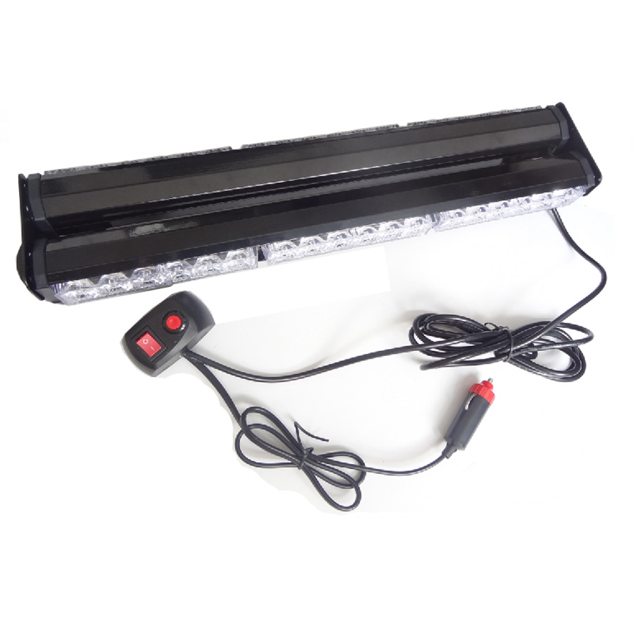 18 High Power 36 LED Double Side Emergency Car Truck Flashing Strobe Work Light 108W Scanner Warning Roof Light DC12V