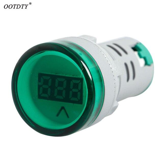 OOTDTY Novo 22mm AC 60 v-450 v Verde/Laranja/Vermelho Luzes de Combinação Voltímetro Digital de Exibição indicador