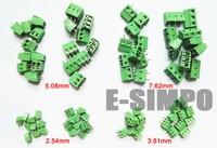 E Simpo PCB Screw Terminal Block Connector Assortment Kit 2 54mm 3 81mm 5 08mm 7