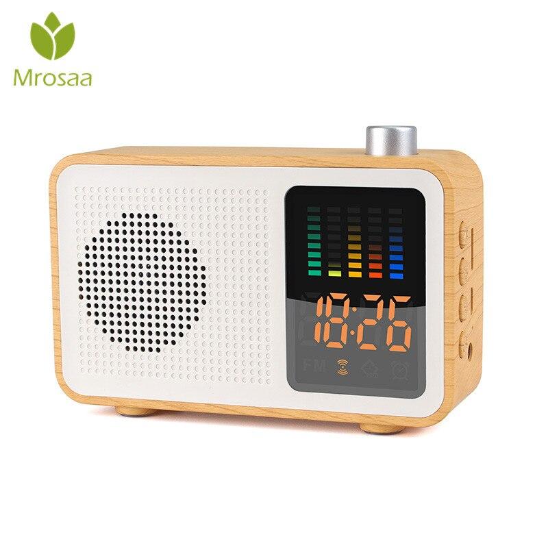 Mrosaa nouveaux créatifs 3 en 1 réveil Rechargeable bluetooth haut-parleur FM Support Radio AUX TF carte Table réveil horloges numériques