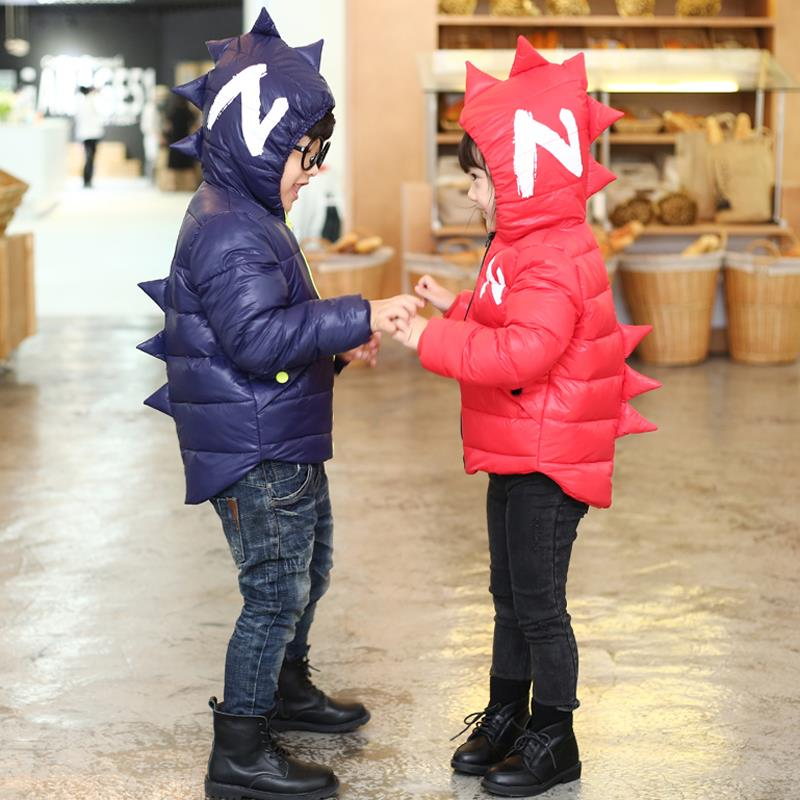 Winter Children Boys Jackets Cartoon Tyrannosaurus Girls Winter Coat Kids Outerwear Baby Boys/Girls Down Jacket Infant Clothes 10