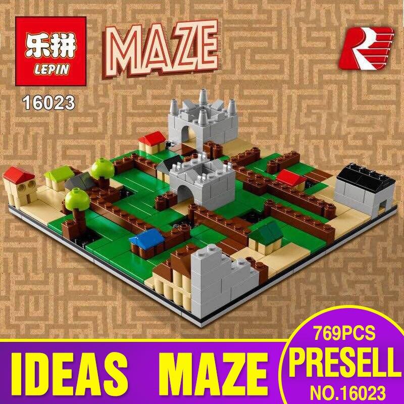 ФОТО Lepin 16023 Genuine IDEAS Series The Creative Gaming Maze Set Educational Building Blocks Bricks Toys 21305