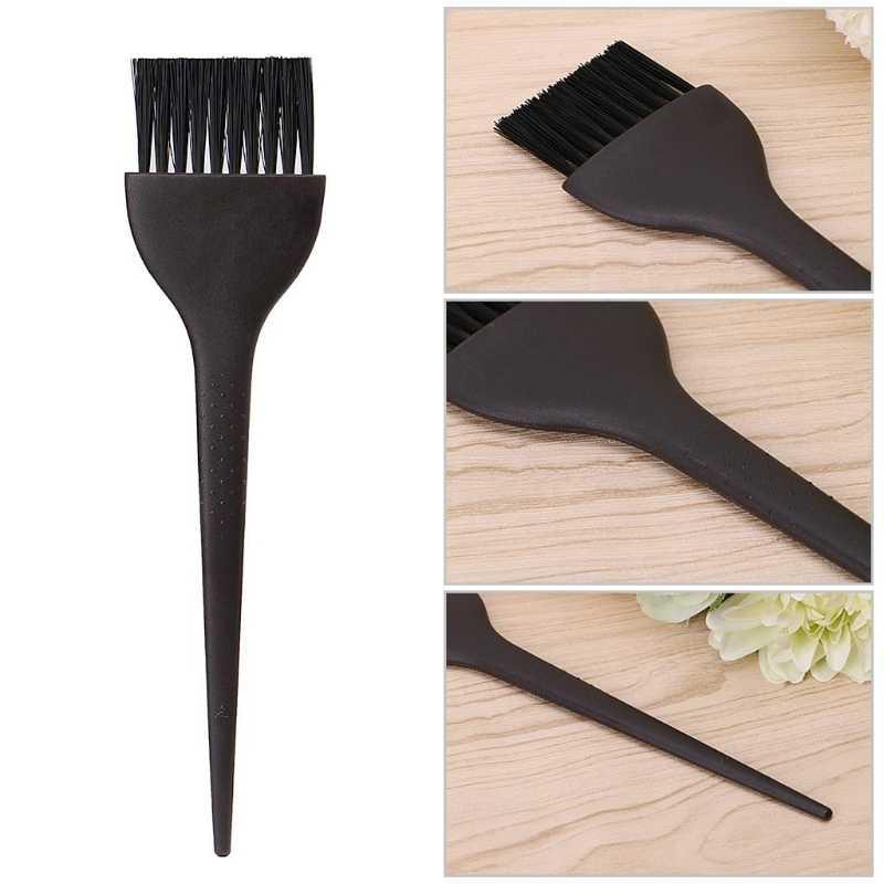 プロフェッショナル理髪色合いブラシサロン着色染毛剤ツール黒プラスチックブラシ黒/ピンクホット!