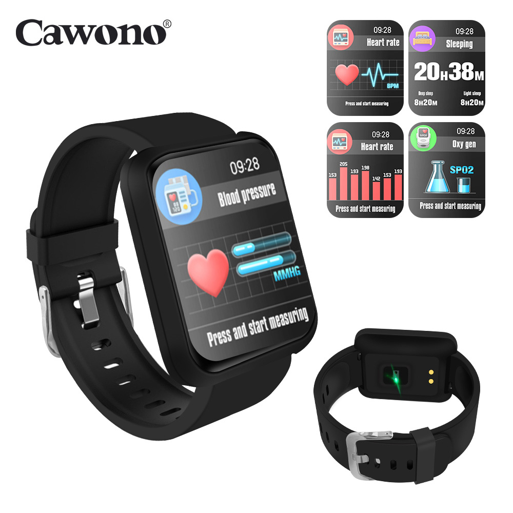 Cawono CW3 Smart Watch 1.3inch Blood Pressure Heart Rate Monitor Push Message Waterproof Sport Smartwatch For IOS Android Phone new x7 smart watch with heart rate clock ultra long standby ip68 waterproof sports smartwatch message push for android ios phone
