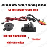 170 Degree Wide Angle Car Video Parking Sensors Camera 2 In 1 Auto Reverse Camera With