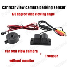 170 degree wide angle Car video Parking Sensors camera 2 In 1 Auto Reverse camera with parking radars Backup Radar