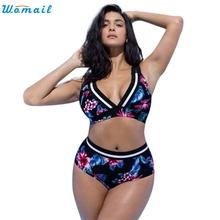 Women Floral Print Bikini Sets Two Piece Swimsuits Swimwear Beach Suit For Daily Sexy Summer Swimwear C30719