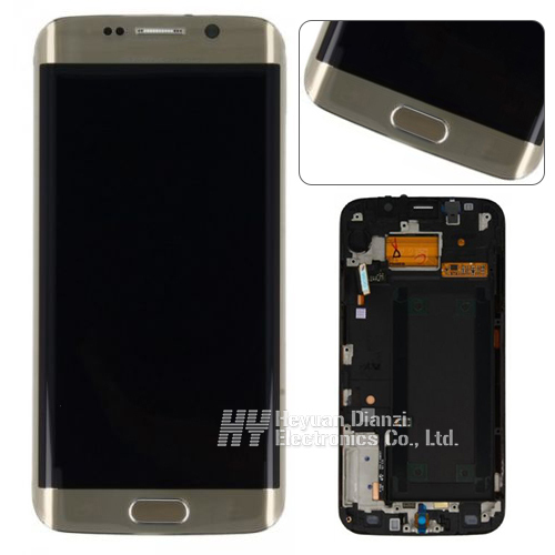 100% original test good LCD screen display digitizer with frame For Samsung galaxy S6 egde G925f g925a g9250 freeshipping