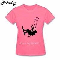 Başar Kitesurfer Tasarım Crewneck Moda Üst Pamuk Tee Gençlik Yeni Kısa Kollu T-Shirt Lady Bayan Resmi Gömlek