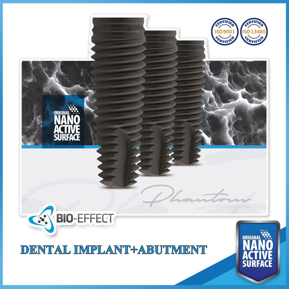 1 Bio-Effect Original Nano Active Dental Implant-Phantom Screw Type + 1 Straight Regular Abutment(Gift)-For Internal Hex1 Bio-Effect Original Nano Active Dental Implant-Phantom Screw Type + 1 Straight Regular Abutment(Gift)-For Internal Hex