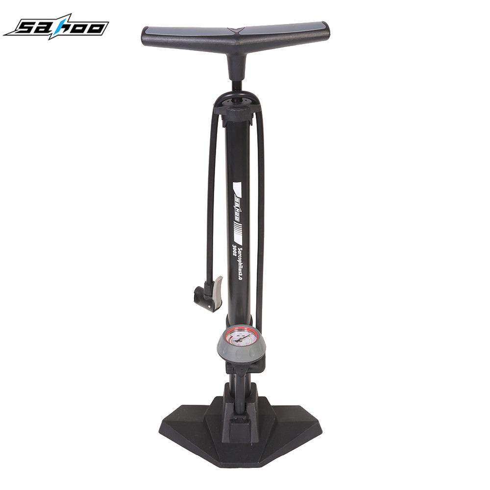 SAHOO Bicycle Pump With Gauge High Pressure Mini Pump 170ps Hose Air Inflator Schrader Cycling Tire
