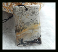 Natural Stone Rectangle Chohua Jasper Necklace Pendant,42*27*7mm,16g semiprecious stone necklace pendant jewelry accessories