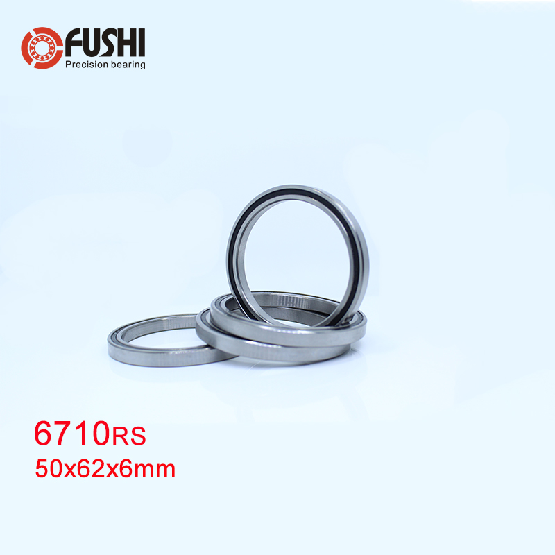 6710 2RS Bearing 50*62*6 Mm ( 4 PCS ) ABEC-1 Slim Thin Section 61710RS 6710 RS Ball Bearings 6710RS