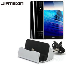 JIATEXIN Desktop Data Sync Type-C Usb-kabel Dock Laadstation Voor UMIDIGI UMI CRYSTAL/S/Z1/Z1 PRO USB-C Opladen Adapter(China)