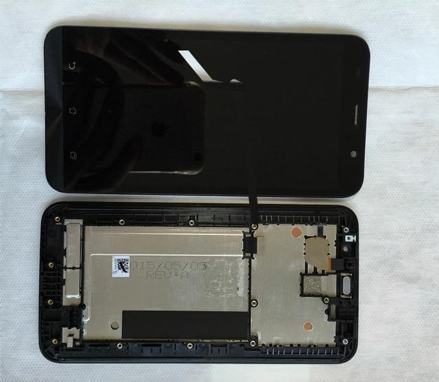 Полный ЖК-Дисплей Панели С Сенсорным Экраном Дигитайзер Ассамблеи Запасные Части с Рамкой Рамка Для Asus Zenfone 2 Zenfone2 ZE551ML
