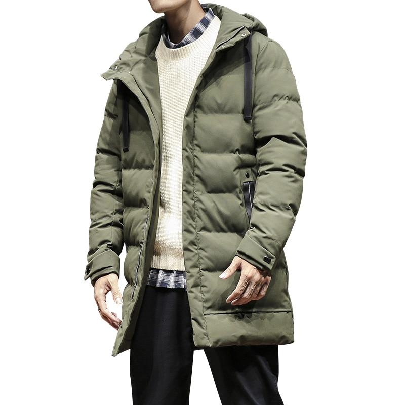 2018 neue Mode Winter Jacke Männer Armee Grün Mit Kapuze Windjacke Lange  Parka Mantel Mann Dicker Baumwolle Casual Winter Warme Jacke 7605a921c1