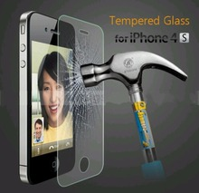 2PCS lot For Apple Iphone 4 4S 0 3mm 9H Explosion proof Tempered Glass Screen Protector