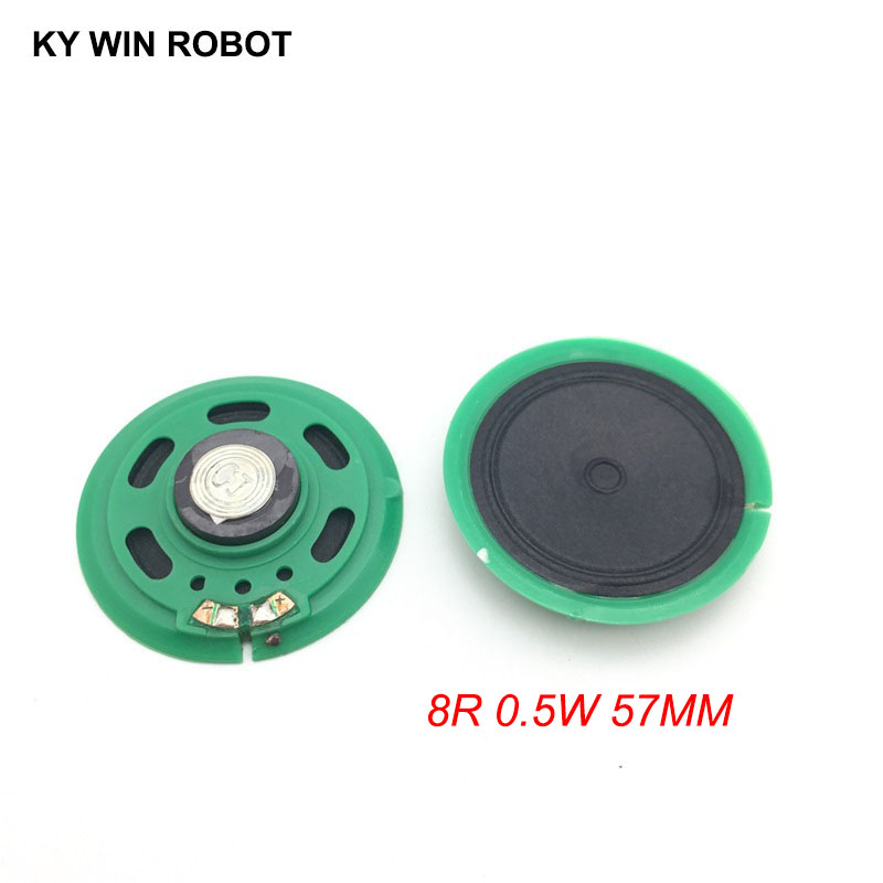Electronic Components & Supplies Acoustic Components 2pcs New Ultra-thin Speaker Doorbell Horn Toy-car Horn 16 Ohms 0.5 Watt 0.5w 16r Speaker Diameter 57mm 5.7cm Thickness 10mm Bright In Colour