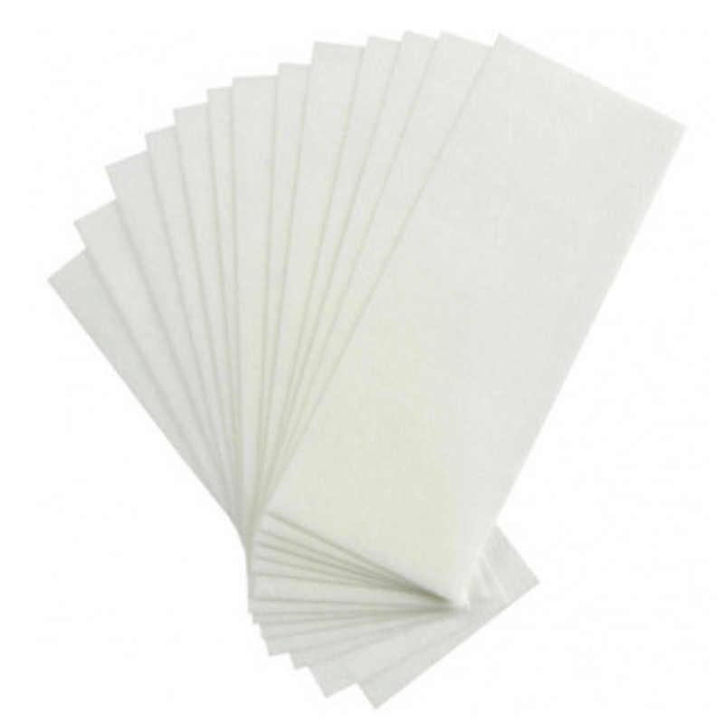 100 adet/takım Epilasyon Tüy Dökücü Kağıtları keçe bez Yüz Boyun Kol Bacak Vücut Yüksek Kalite Epilasyon Balmumu Kağıt Güzellik Araçları