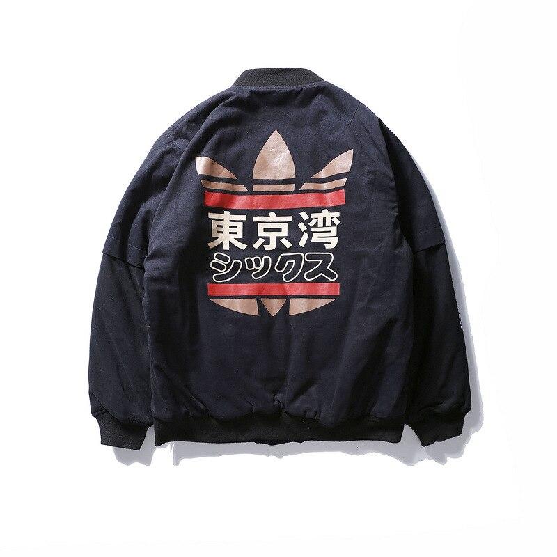 2019 Spring MA1 Men Bomber Jacket Hip Hop Patchwork Tokyo Bay Printed Coat Streetwear Military Flight Pilot Windbreaker Jackets
