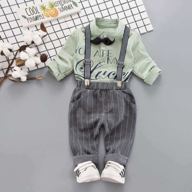 Baby Boy Clothes Set Children Suits  New Infant clothing Baby Boys Set Gentleman Bow Shirt