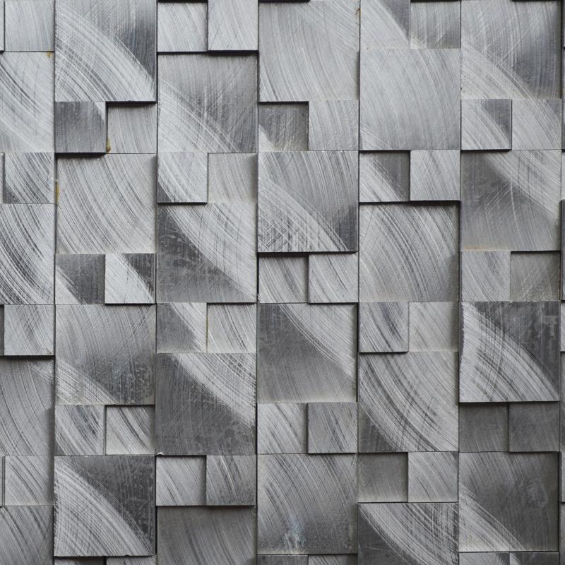 € 257.29 |Alliage d\'aluminium métal 3D mosaïque carreaux HMM1004 pour  dosseret cuisine mur autocollant salle de bains carrelage livraison  gratuite-in ...