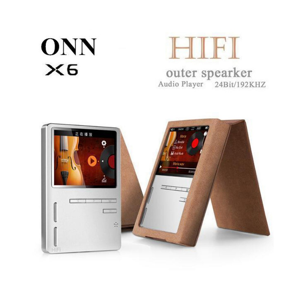 ONN X6 Lossless Portable Digital Hifi Flac Audio Sport Mp 3 Music Mp3 Player With Speaker Screen Radio FM 8GB LCD Voice Recorder onn w6 bluetooth hifi music mp3 player 8g storage with earphones