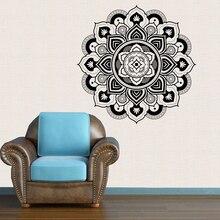 Buddhism Indian Mandala Wall Stickers Decor Big Sticker Namaste Decal Mural Home Decoration 2