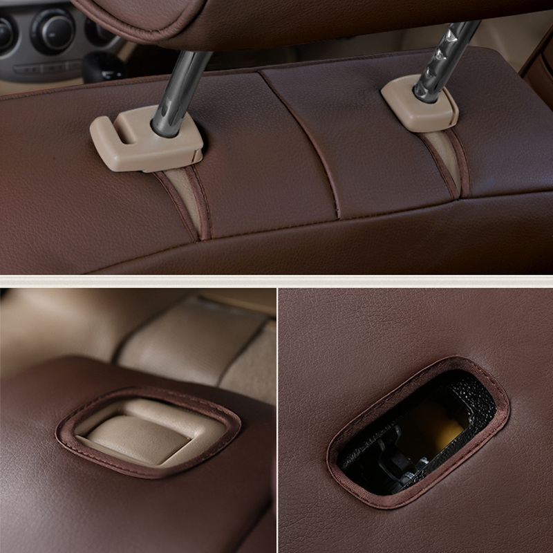 Autotory Custom Automotive Cover Seats for Acura RL Genuine Leather Seat Covers for Car Cushion Seats Supports Accessories 18PCS