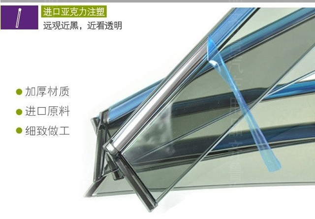 High quality Injection Weather guard Car window visor Rain guard with Chrome trims For Peugeot 308 Car Styling accessories!