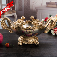 Quality fashion resin fruit plate home decoration coffee table gift vintage dried fruit tray