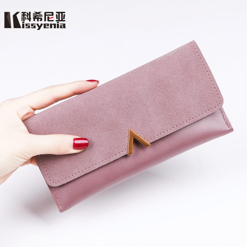 bdd68cb1976 Detail Feedback Questions about Kissyenia Female Wallet PU Leather Women  Purse 2 Fold Envelope Long Coin Purse Leisure Lady Card Holder 6 Colors  Clutch ...