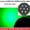 Good Quality Led Par Quad 7x10W Wash Dmx Par Light American dj Par RGBW 4in1 Dmx Led Flat Par Light Led Lamp Stage Effect Lights