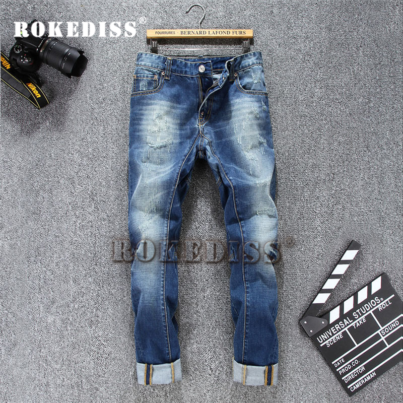 2017 Spring Autumn Men s Leisure Fashion Straight Jeans male Denim pants Winter Men Brand Jeans