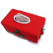 New Belt/Clover Pattern Merry Christmas tissue box cover Christmas home decoration Creative napkin holder 2 Styles for choice