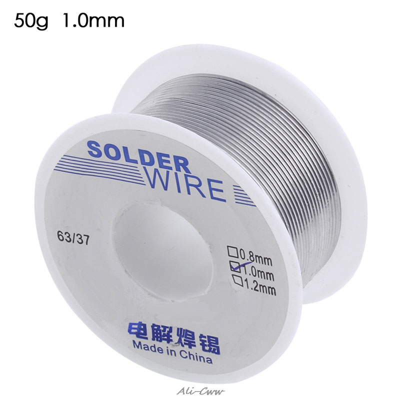 63/37 1,0mm Kolophonium Core Weldring Zinn Blei Industrie Solder Draht 50g Starke Verpackung Werkzeuge