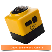 Cube360 Action Camera 360 Degree Panorama Sport Cam 360 x190 F2.0 Lens Camera 1280*1042 WiFi GVT100M DSP Battery 180mins