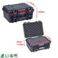 Internal 327*229*155 mm IP67 waterproof shockproof plastic transport case with pick pluck foam