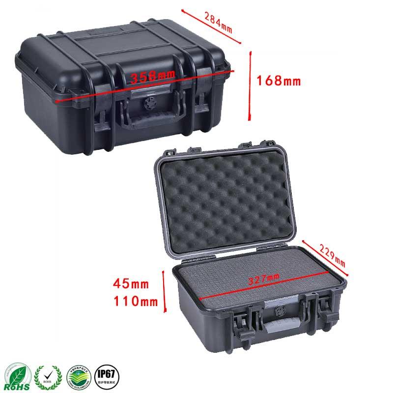 Internal 327*229*155 mm IP67 waterproof shockproof plastic transport case with pick pluck foam цена