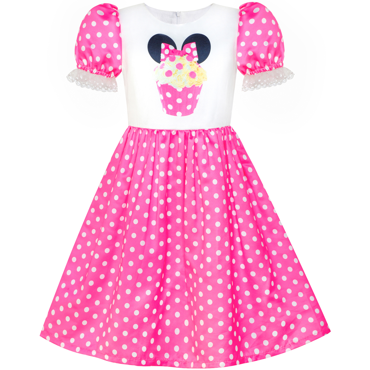 Sunny Fashion Girls Dress Birthday Cupcake Polka Dot Birthday Princess 2018 Summer Wedding Party Dresses Kids Clothes Size 3-8 sunny fashion girls dress birthday cupcake polka dot birthday princess 2018 summer wedding party dresses kids clothes size 3 8