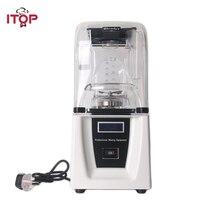 ITOP коммерческий блендер 1800 Вт мощный Измельчитель льда смешивания машина со звуковым покрытием легко Управление соковыжималка для овощей