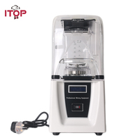 ITOP Commercial Blender 1800W Powerful Ice Crusher Mixing Machine with Sound Cover Easy Operation Vegetable Juicer