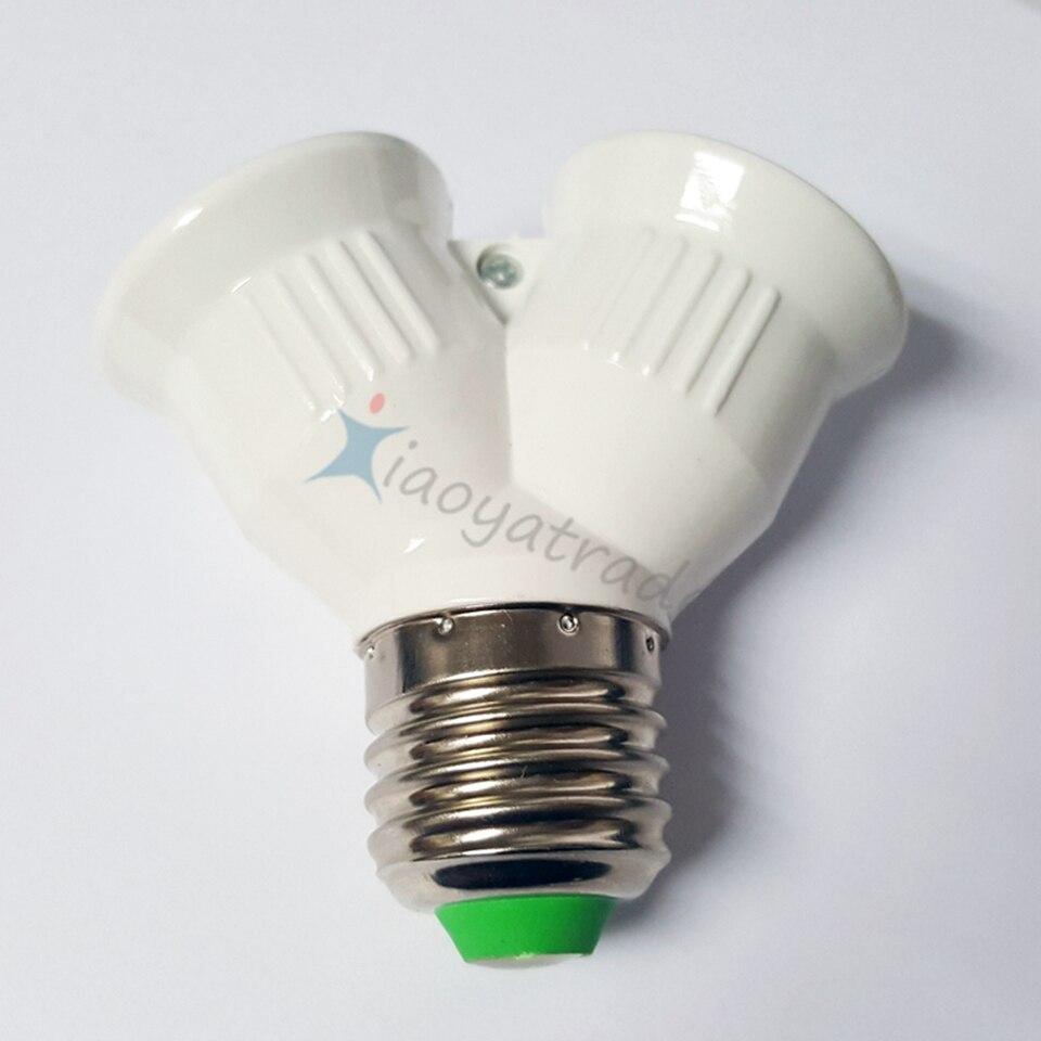 Aliexpress.com : Buy NEW E27 to 2 E27 Lamp Holder Converter Socket ...