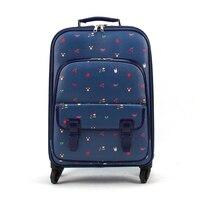 Luggage female small fresh universal wheels suitcase trolley luggage travel bag luggage 20 16,retro flower printed luggage bags