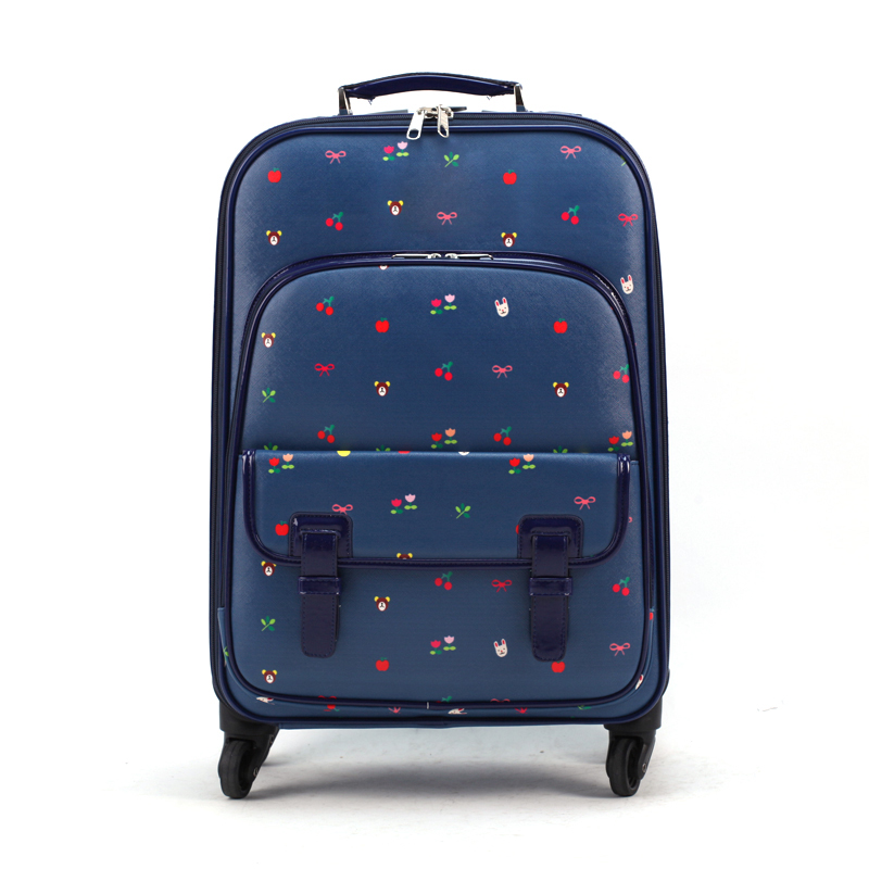 Luggage female small fresh universal wheels suitcase trolley luggage travel bag luggage 20 16,retro flower printed luggage bags trolley luggage 24 universal wheels travel luggage bag 20 doodle small 16 luggage high quality female cartoon travel luggage