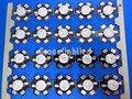 10pcs 3W High Power LED UV Light Chip 365nm 375NM 385nm 395nm 400nm 415nm 430nm Ultra Violet with 20mm star pcb DIY